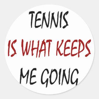 El tenis es qué me guarda el ir pegatina redonda