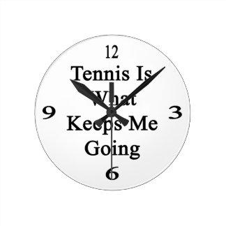 El tenis es qué me guarda el ir relojes de pared