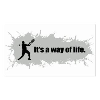 El tenis es una manera de vida (el varón) tarjetas de visita