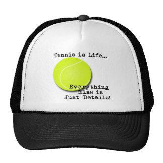 El tenis es vida gorros
