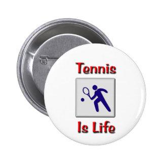 El tenis es vida pin