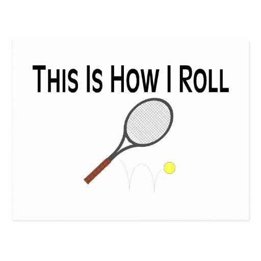El tenis esto es cómo ruedo tarjeta postal