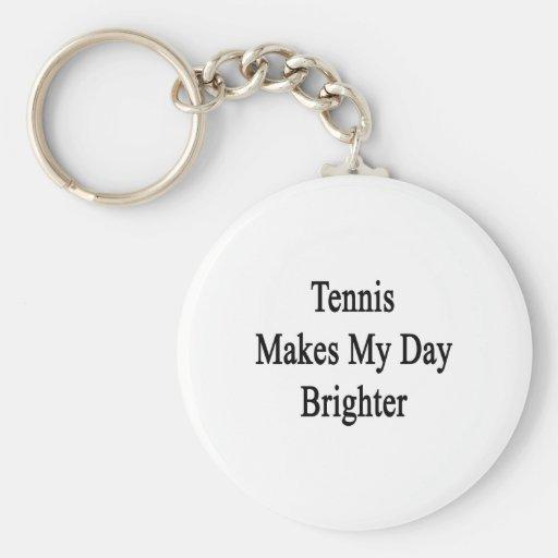 El tenis hace mi día más brillante llavero