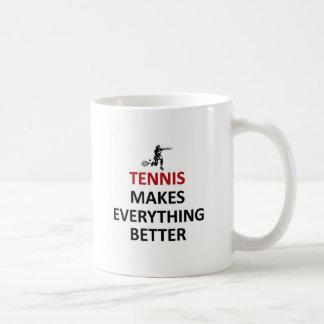 El tenis hace todo mejor taza de café