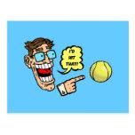 El tenis I golpearía eso Postal