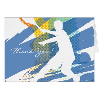 El tenis le agradece cardar con diseño agradable tarjeta de felicitación