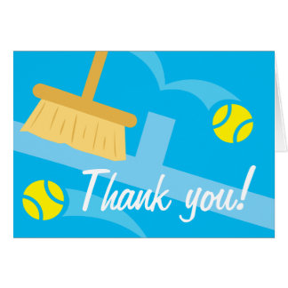 El tenis le agradece cardar tarjeta de felicitación