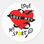 ¿El TENIS me ama? ¡Ame mi deporte! Pegatinas
