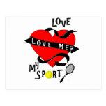 ¿El TENIS me ama? ¡Ame mi deporte! Postal