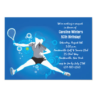 El tenis oscila la invitación