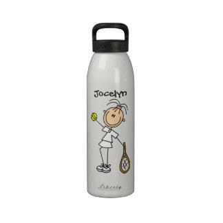 El tenis para mujer de encargo se divierte la bote botella de agua reutilizable