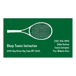El tenis se divierte tarjetas de visita