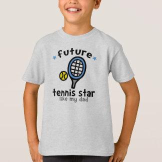 El tenis tiene gusto del papá playera