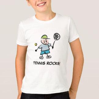 El tenis viste para la camiseta de los muchachos playeras