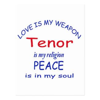 El tenor es mi religión postal