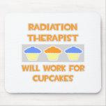 El terapeuta de la radiación… trabajará para las m tapetes de ratón
