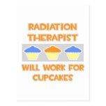 El terapeuta de la radiación… trabajará para las m tarjetas postales