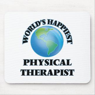 El terapeuta físico más feliz del mundo alfombrilla de ratón