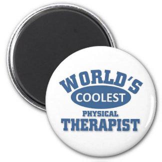 El terapeuta físico más fresco imán redondo 5 cm