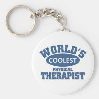 El terapeuta físico más fresco llaveros personalizados