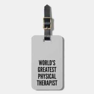 El terapeuta físico más grande de los mundos etiquetas para maletas
