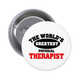 El terapeuta físico más grande del mundo pin redondo 5 cm
