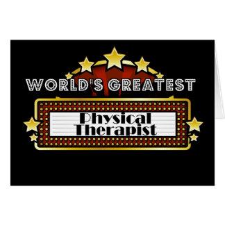 El terapeuta físico más grande del mundo tarjeta de felicitación