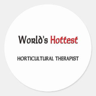 El terapeuta hortícola más caliente de los mundos pegatinas redondas