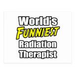 El terapeuta más divertido de la radiación del mun tarjeta postal