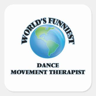 El terapeuta más divertido del movimiento de la calcomanías cuadradas personalizadas