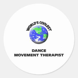 El terapeuta más fresco del movimiento de la danza etiqueta redonda