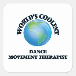 El terapeuta más fresco del movimiento de la danza calcomania cuadradas