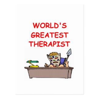 el terapeuta más grande del mundo tarjeta postal