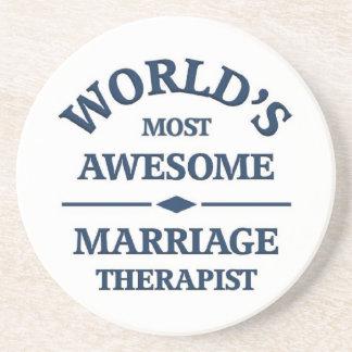 El terapeuta más impresionante de la boda del mund posavasos para bebidas