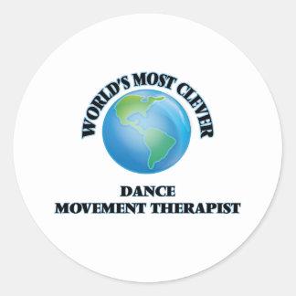 El terapeuta más listo del movimiento de la danza etiqueta redonda