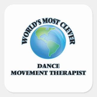 El terapeuta más listo del movimiento de la danza calcomanía cuadradas personalizada