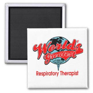 El terapeuta respiratorio más grande del mundo imán cuadrado
