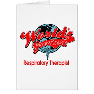 El terapeuta respiratorio más grande del mundo tarjeta de felicitación