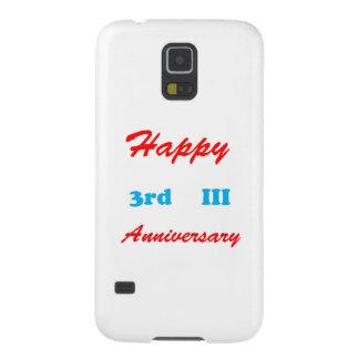 El TERCER 3ro camisetas feliz del ANIVERSARIO III Funda Galaxy S5