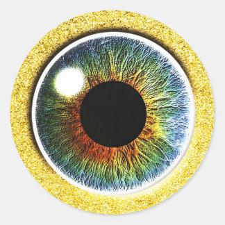 el tercer ojo pegatina redonda