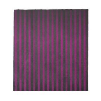 El terciopelo raya púrpura bloc de notas