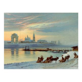 El terraplén de Angara en Irkutsk, 1886 Tarjetas Postales