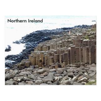 El terraplén del gigante, Co. Antrim, Irlanda del Tarjeta Postal