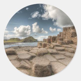 El terraplén del gigante, Irlanda del Norte Etiqueta Redonda