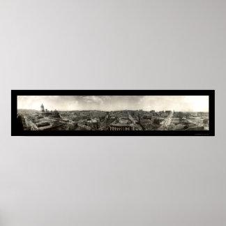 El terremoto arruina la foto 1906 de San Francisco Póster