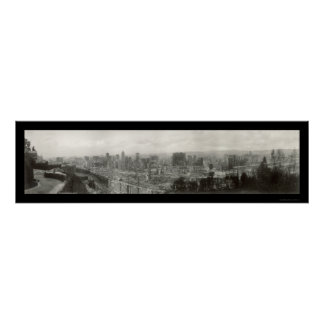 El terremoto arruina la foto 1906 de SF Póster