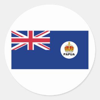 el territorio Papua, Papúa Nueva Guinea Pegatina Redonda