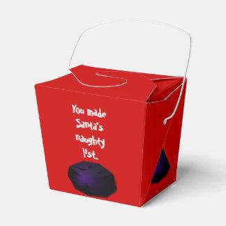El terrón del carbón saca la caja del favor cajas para regalos