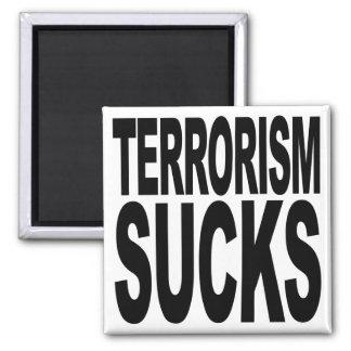 El terrorismo chupa imán cuadrado