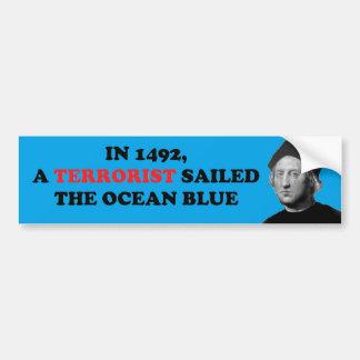 El terrorista navegó el azul de océano pegatina para auto